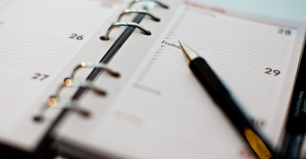 agenda avec stylos